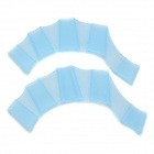 Silicone Webbed Gloves for Swimming - Blue (Size M)