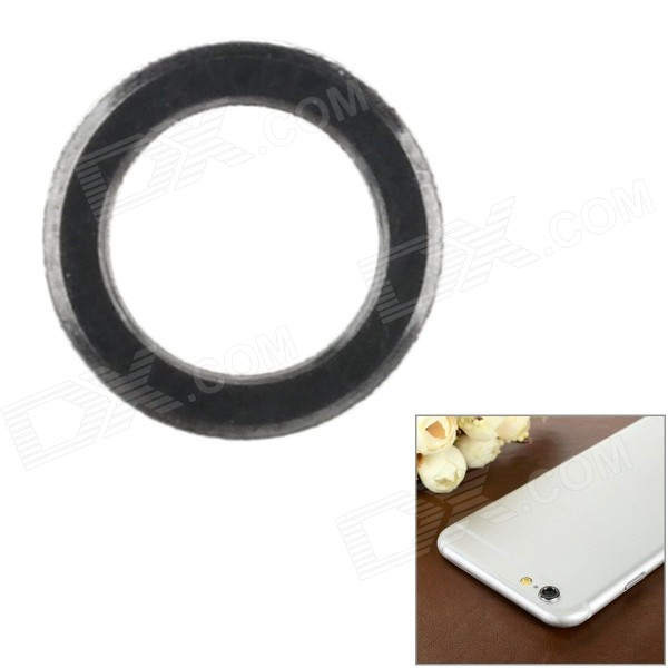 Aluminum Alloy Lens Guard Ring Sticker for IPHONE 6 - Black