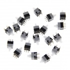 Dual-Row 6-Pin Self-lock Switches - Grey + Black (8.5 x 8.5mm / 20 PCS)