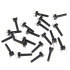 DIY Tact Button Switches - Black (6 x 6 x 19mm / 20 PCS)