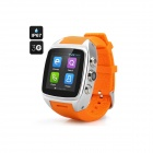 Imacwear M7 Waterproof Android 4.2 Dual Core 3G Smart Watch Phone w/ 1.54'', 5.0MP - Orange +Silver