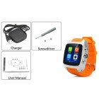 Imacwear M7 Android 4.2 3G Watch Phone w/ 512MB RAM, 4GB ROM - Orange