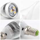 E14 3W LED Cold White Light Candle Bulb - Silver (6PCS)
