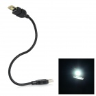 L-18 0.5W 30lm 6000K SMD 5252 LED White USB Mini Light Lamp w/ Touch Switch - Black + Yellow