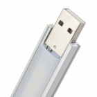 L-12 1.8W 60lm 8-LED blanco caliente USB Nightlight lámpara de luz de lectura (5V)