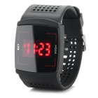 Touch Screen-rote LED Digital Armbanduhr - Schwarz + Rot (1 x CR2032)