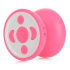 Yo-yo Style MP3 Player w/ TF / 3.5mm / Mini USB - Deep Pink + White