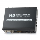 YPbPr / AV / S-Video для HDMI / VGA 1080P Full HD Video Converter - черный