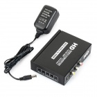 AV / s-video L / R HDMI 1080p Full HD Video Converter - musta