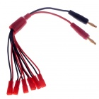 4mm Banana Plug to JST Connector Adapter Charging Cable for R/C Aircraft - Black + Red