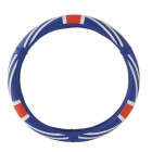 CARKING 38cm UK Flag Pattern Silicone Car Steering Wheel Cover - Red + Blue + Multicolored