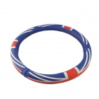 CARKING 38cm UK Flag Silicone Car Steering Wheel Cover - Red + Blue