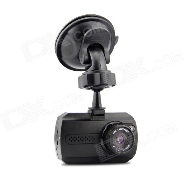1.5'' TFT Full HD 1080P 3.0MP CMOS 140' Wide-Angle Night Vision Car DVR Camcorder with 1 LED - Black - Car Alarm and Security - Car Accessories