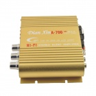 A-700 Hi-Fi Stereo Audio Amplifier w/ SD / USB for Car / Motorcycle - Gold