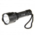 UltraFire C8 1-LED 200LM 5-Mode Bright Flashlight Set - Black (1 x 18650)