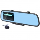 "4.3"" LCD 1080P HD CMOS 120' Wide-Angle IR Night Vision Dual-Camera Rearview Mirror Car DVR Camcorder"
