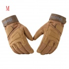 ESDY HYM-3 Outdoor Racing / Cycling / Airsoft Hunting Full-Finger Tactical Gloves - Tan (M / Pair)