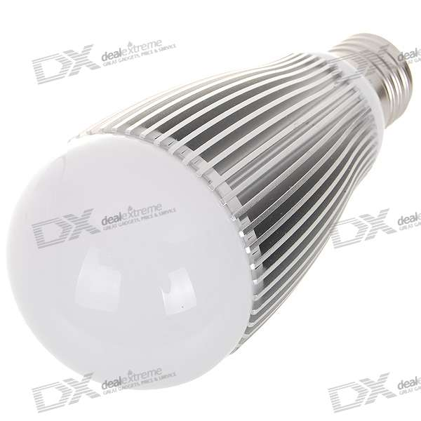 E27 9W 9-LED 810-Lumen 6000K White Light Bulb (85~265V AC)