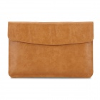 """Oushine Protective PU Leather Bag Shell Jacket for 15"""" / 15.4"""" MACBOOK PRO RETINA - Brown"""