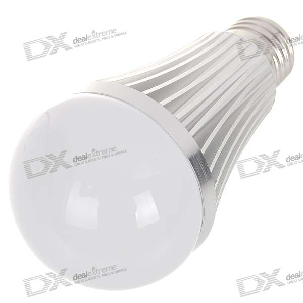 E27 7W 7-LED 630-Lumen 6000K White Light Bulb (85~265V AC) e27 6w 6 led 540 lumen 6000k white light bulb 85 265v ac
