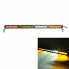 "MZ 25.2"" 120W XT-E 10200LM 24-LED Combo Yellow + White Light Car Worklight Bar - Black (9~32V)"