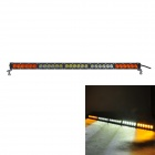 MZ 150W 12750LM 6000K 30 LED-Combo Orange + White Light Car Worklight Bar - Schwarz (9 ~ 32V)