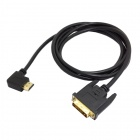 CY DV-038-RI 90 Degree Right Angled HDMI Male to DVI Male HDTV Cable for Monitor / Projector (1.5m)
