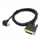 CY DV-039 90 Degree Up Angled HDMI Male to DVI Male HDTV Cable for Monitor / Projector (1.5m)