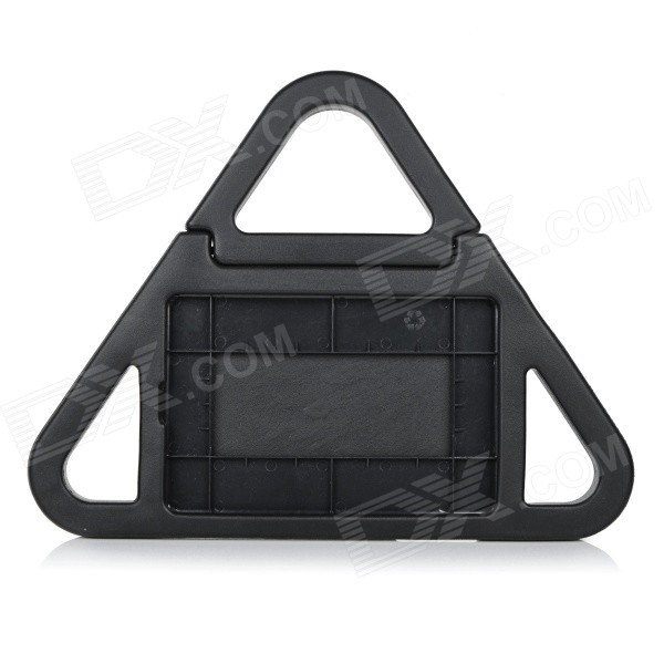 Triangular Back Case w/ Stand / Handles for IPAD MINI 1 / 2 - Black