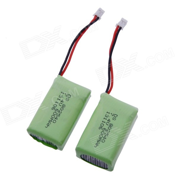 Li-Po Battery for R/C Models for R/C Models - Green (2PCS / 600mAh)