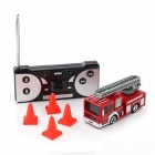 1:42 Mini Racing Red Bottled R/C Fire Truck Toy - Red + White