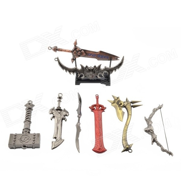 Weaponry Models - Silver + Gold + Black (8PCS)