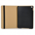 Patrón retro PU + PC Auto-Sleep para IPAD AIR 2 - Café + Negro