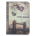 London Bridge Pattern Protective Flip-Open PU + PC Auto-Sleep Case Cover w/ Stand for IPAD AIR 2