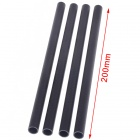 3K Carbon Fiber Tubes Set for R/C Aircraft - Black (10 x 8 x 200mm / 4 PCS)