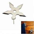 Creative Stainless Steel Pentagram Hat Coat Clothes Ornaments Hook Hanger - Silver