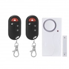 Forecum Intelligent Household Door Magnetic Detector w/ 2-Remote Control - White + Black (2 x AAA)
