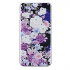 Rhinestone Inlaid Flower Protective PC Back Case for IPHONE 6 PLUS - Deep Purple + Multi-Color