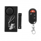 Forecum Intelligent Household Door Magnetic Detector w/ Remote Control - Black + White (2 x AAA)