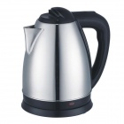 Water Boil Brushed Stainless Steel Electric Kettle Tea Pot w/ Safety Auto-off (1.8L / UK Plug)