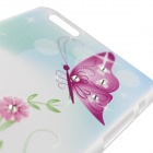 Butterfly + Flower Back Case for IPHONE 6 PLUS - Green + Multi-Color