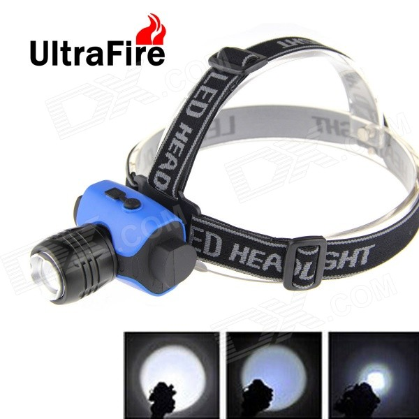 UltraFire Zoomable 300lm 3-Mode White Light LED Healamp