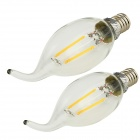 YouOkLight E14 2W LED Filament Candle Light 180lm Warm White (2PCS)