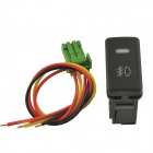 CARKING DC 12V Car Panel Mounted Fog Light Switch for Cadillac - Black + Multiclored