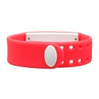 W2 Multifunctional USB 3D Pedometer Smart Bracelet Wristband Watch - Red