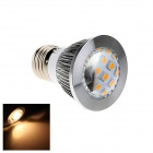E27 5W 230lm 3000K 20 x SMD 2835 LED Warm White Light Spot Lamp Bulb - White + Silver (AC 220V)