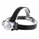 KOMAES PL635 8-LED 20lm 3-Mode Cool White Light Headlamp - Black + Silvery White (3 x AAA)