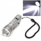 Warsun 500lm 3-Mode LED White Light Telescopic Zooming Flashlight - Silver (1 x 18650)