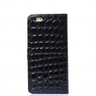 2-in-1 Stone Texture PU + PC Case for IPHONE 6 PLUS - Black