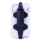 Protective Shockproof Silicone Back Case Cover Armor w/ Holder + Clip for IPHONE 6 PLUS - White
